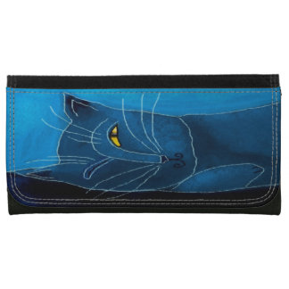 Blue Cat Sleeping Wallet