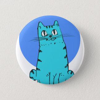 blue cat sweet cartoon kitty 6 cm round badge
