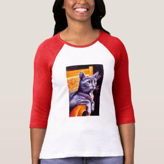 Blue cat T-Shirt