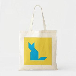 Blue cat Tangram Tote Bag