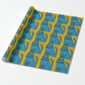 Blue Cat Wrapping Paper