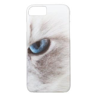 Blue cat's eye iPhone 8/7 case