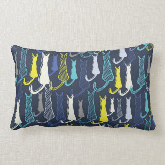 Blue Cats Lumbar Cushion