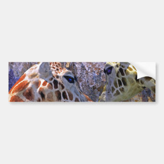 Blue Cave Giraffes Children's Fantasy Bumper Sticker
