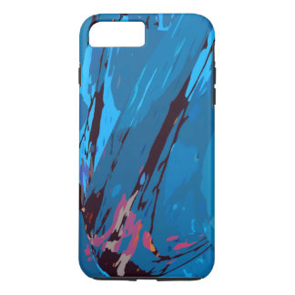 Blue Celebration Abstract iPhone 7 Plus Case