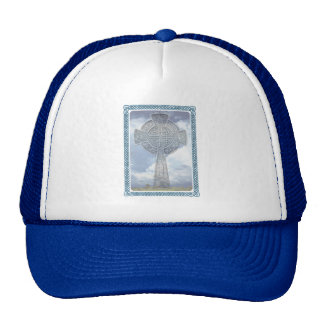 Blue Celtic Cross And Clouds Hats