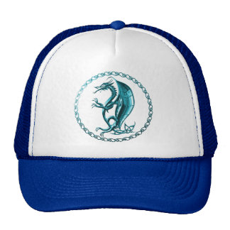 Blue Celtic Dragon Hat