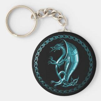 Blue Celtic Dragon Key Chains