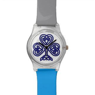 Blue Celtic Shamrock Watch