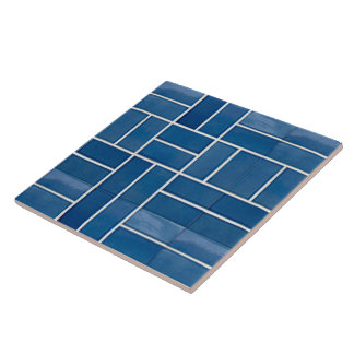 Blue ceramic tiles look pattern