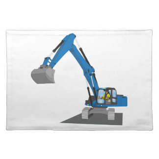 blue chain excavator placemats