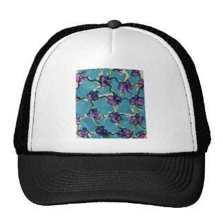 Blue chain flowers cap