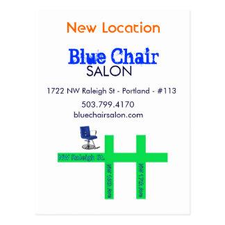 Blue Chair Moving Card Postcard