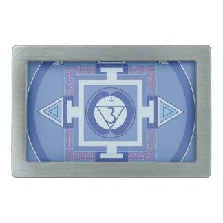 Blue Chakra Mandala Meditation Yoga Energy Belt Buckles