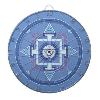 Blue Chakra Mandala Meditation Yoga Energy Dartboard