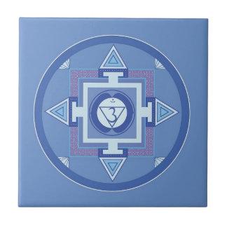 Blue Chakra Mandala Meditation Yoga Energy Tile