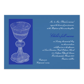 Blue Chalice 13 Cm X 18 Cm Invitation Card