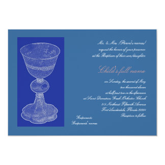 Blue Chalice 2 13 Cm X 18 Cm Invitation Card