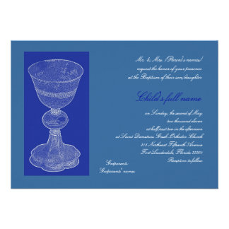 Blue Chalice Personalized Invitations