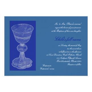 Blue Chalice Personalized Invitations