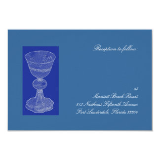 Blue Chalice Reception 9 Cm X 13 Cm Invitation Card
