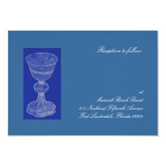 Blue Chalice Reception 9 Cm X 13 Cm Invitation Card
