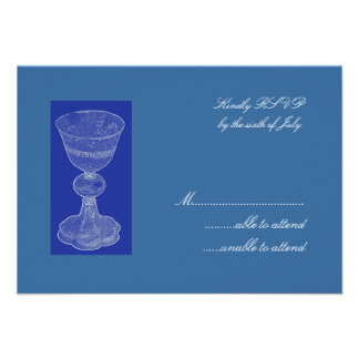 Blue Chalice RSVP Personalized Announcement
