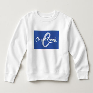 blue chapel brook logo on kids sweat shirt