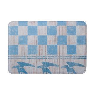 Blue checkerboard eagles bath mat