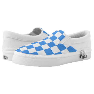 Blue Checkerboard Sneakers