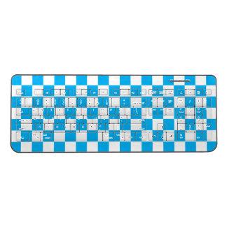 Blue Checkerboard Wireless Keyboard