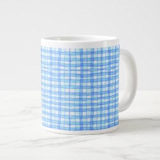 Blue checkered Large Mug