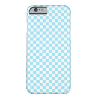 Blue Checkered Pattern Barely There iPhone 6 Case