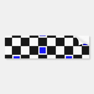 Blue Checkers Bumper Sticker