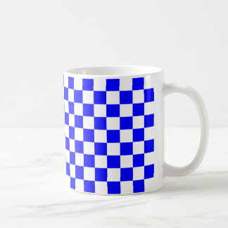 Blue Checkers Coffee Mug