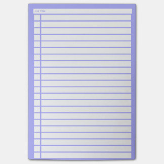 Blue Checklist Post-it Notes
