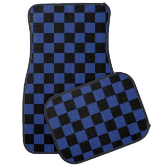 Blue Checks Car Mat