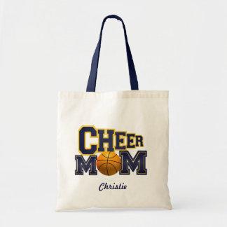 Blue Cheer Mom Basketball Tote Bag