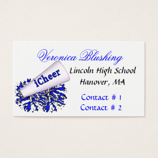 Blue Cheerleader Business / Calling Card