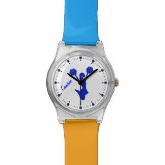 Blue Cheerleader Custom Watch