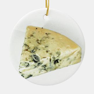 Blue Cheese Ceramic Ornament