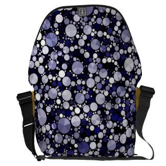 Blue Cheetah Bling Courier Bags