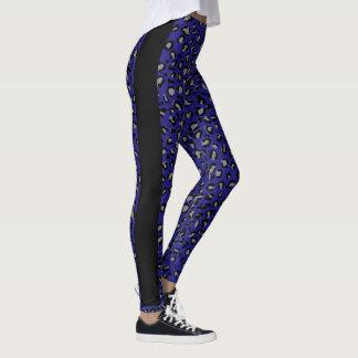 Blue Cheetah design pattern leggings