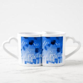 Blue chemistry lovers mug set