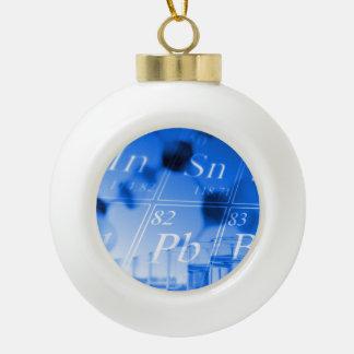 Blue chemistry ceramic ball decoration