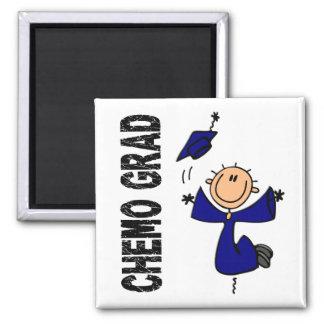 Blue CHEMO GRAD 1 (Colon Cancer) Square Magnet