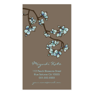 Blue Cherry Blossoms Sakura Spring Flowers Floral Business Cards