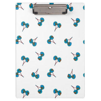 Blue Cherry Pattern Clipboard