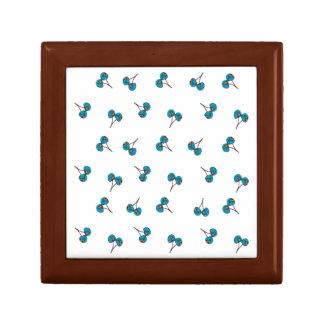 Blue Cherry Pattern Gift Box