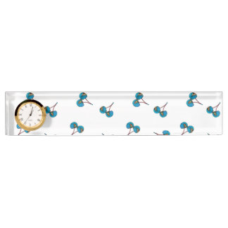 Blue Cherry Pattern Name Plate